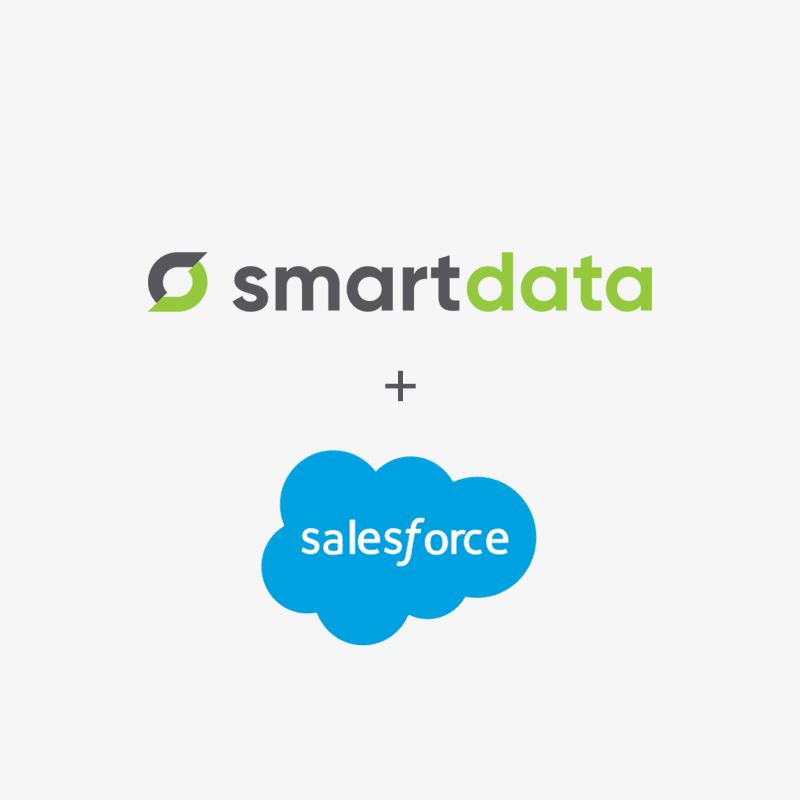Smart Data and Salesforce Logos together
