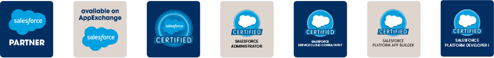 Smartdata's 10 Salesforce Partner and Certifications Icons