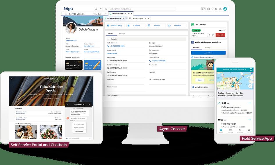 Salesforce Service Cloud Module Dashboard